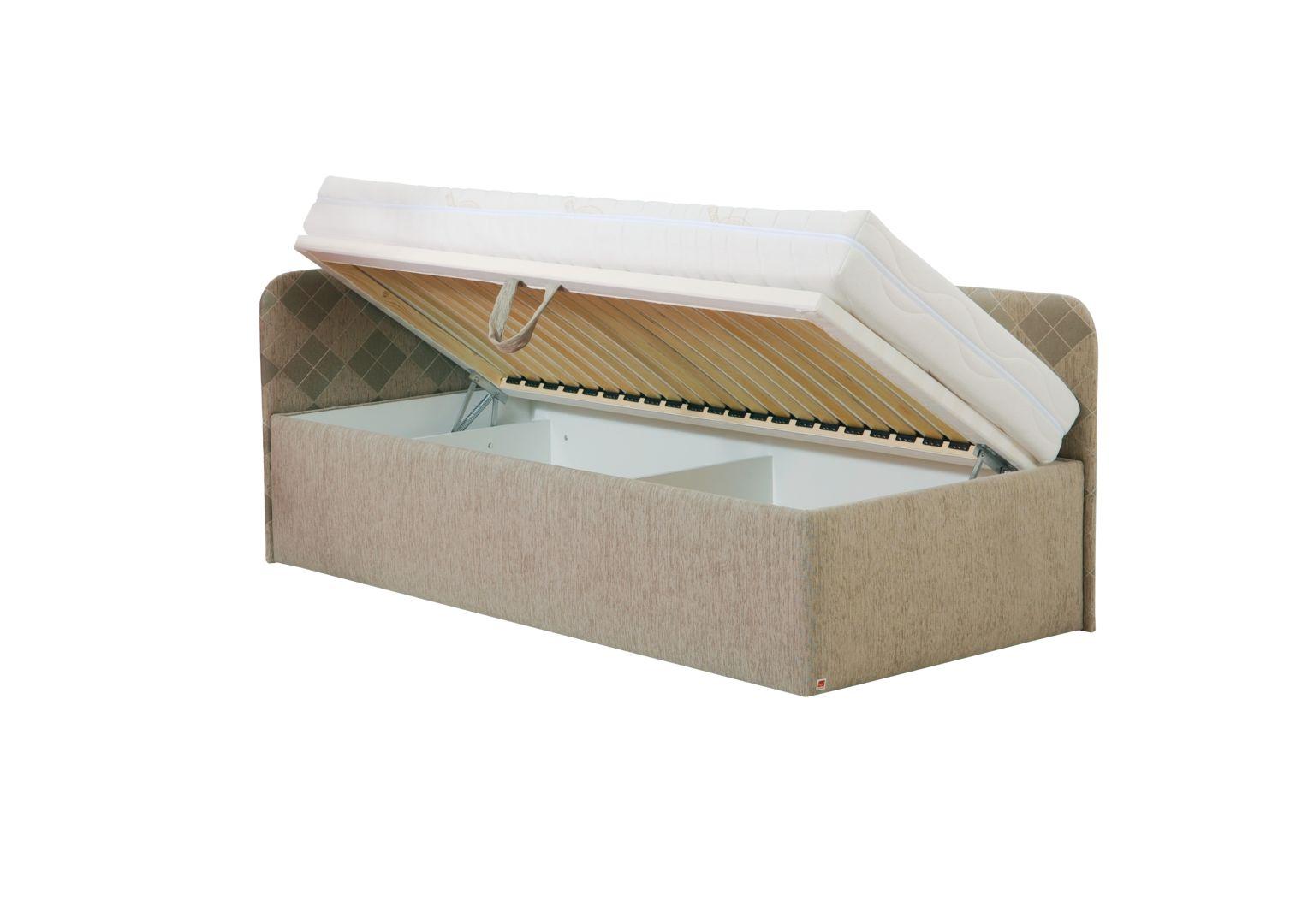 ARGOS jednolůžková postel s úložným prostorem