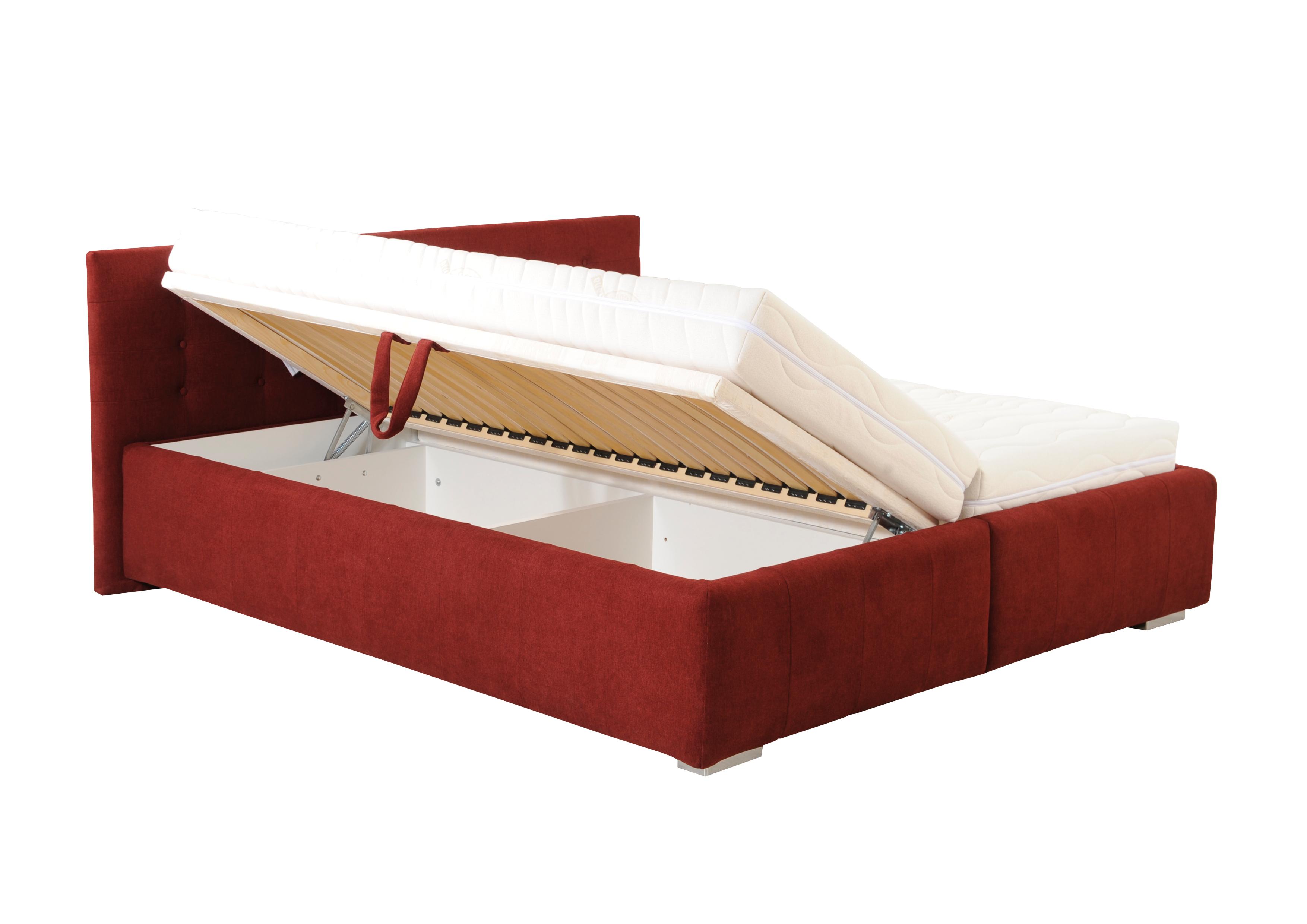 ASTERIA dvoulůžková čalouněná postel s úložným prostorem