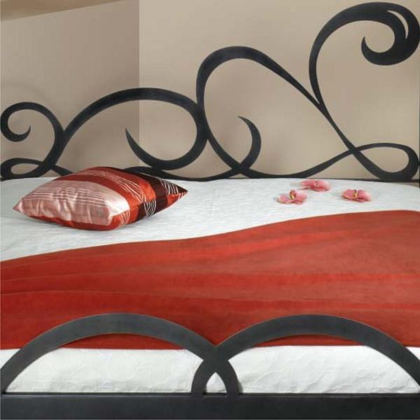 CATRAGENA kovová kovaná dvoulůžková postel