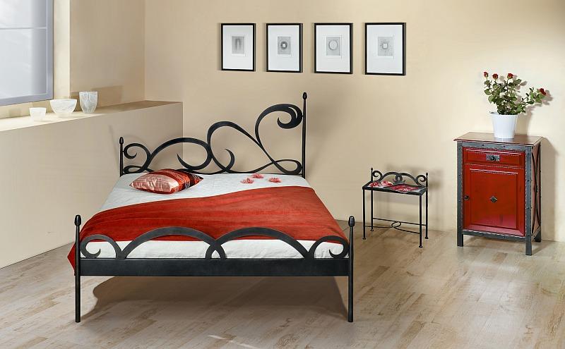 CATRAGENA kovová kovaná dvoulůžková postel kanape