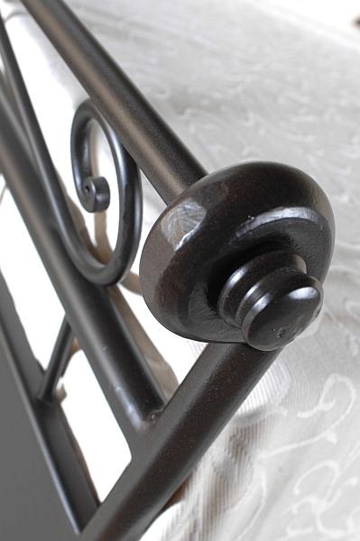 ROMANTIC kovová kovaná jednolůžková postel