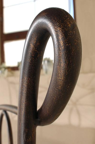 SIRACUSA kovová kovaná dvoulůžková postel