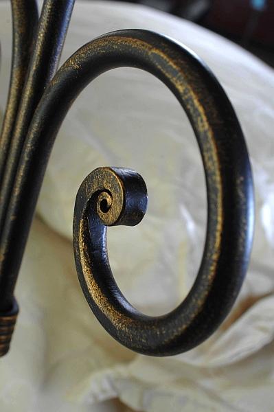 ELBA kovová kovaná dvoulůžková postel