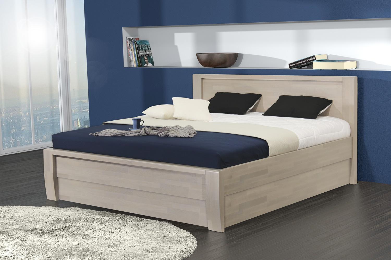 ERIKA VÝKLOP dřevěná postel z masivního buku s úložným prostorem