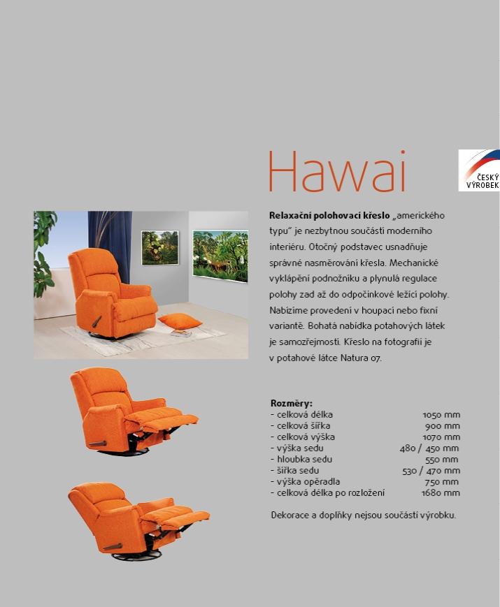 Hawai relaxační polohovací pohupovací křeslo