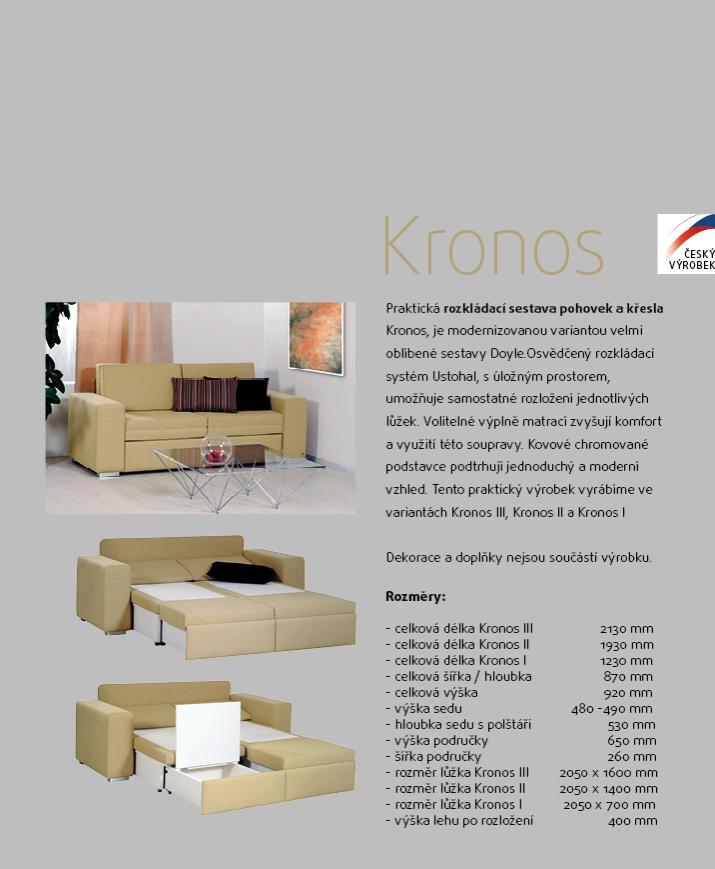 KRONOS I čalouněné rozkládací křeslo s úložným prostorem