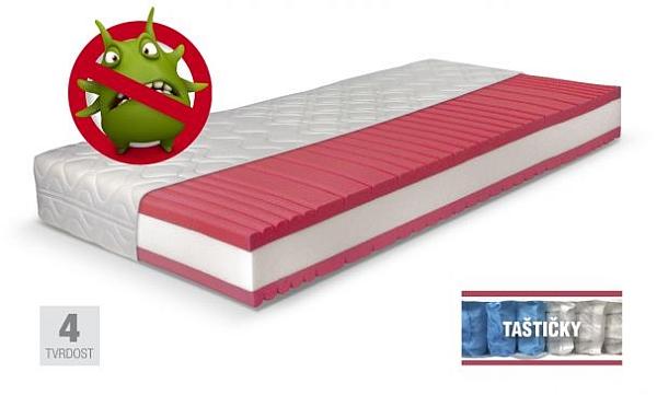 LINEA ortopedická zdravotní pružinová taštičková matrace do postele AKCE