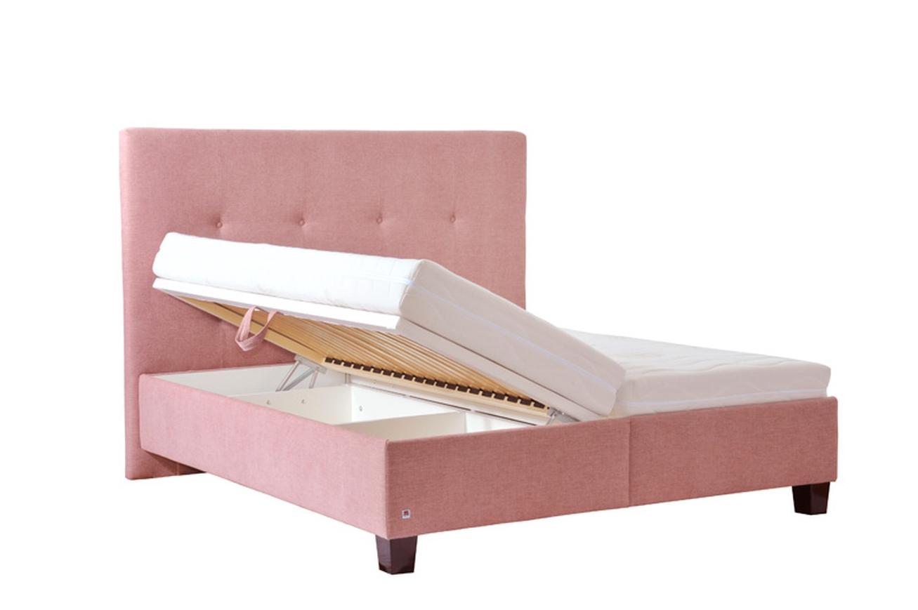 PLUTO dvoulůžková postel s úložným prostorem