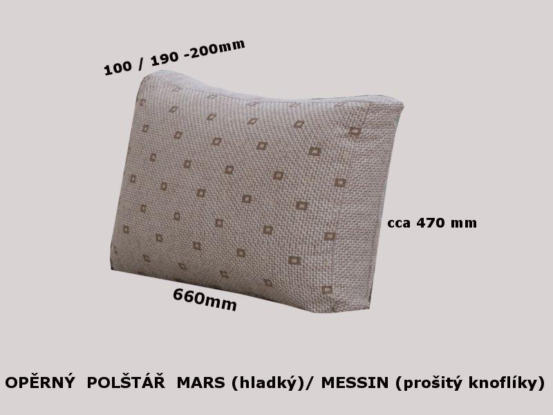 OPĚRNÝ POLŠTÁŘ MARS plněný polštář PUR drtí