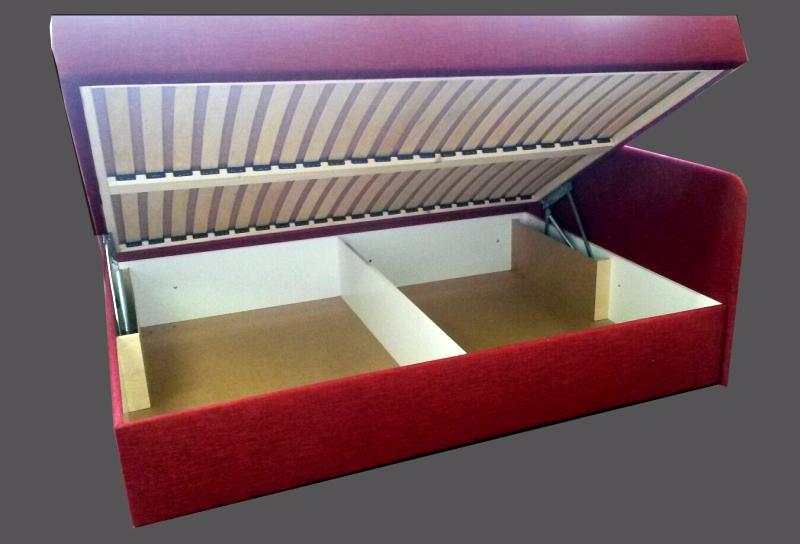 DVOJLŮŽKO S ČELY do rohu čalouněná postel s úložným prostorem AKCE SLEVA 60%
