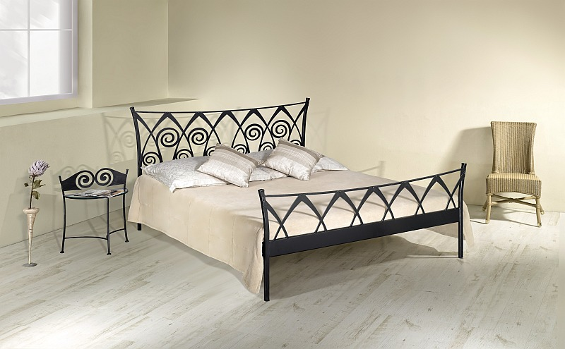 RONDA kovová kovaná dvoulůžková postel
