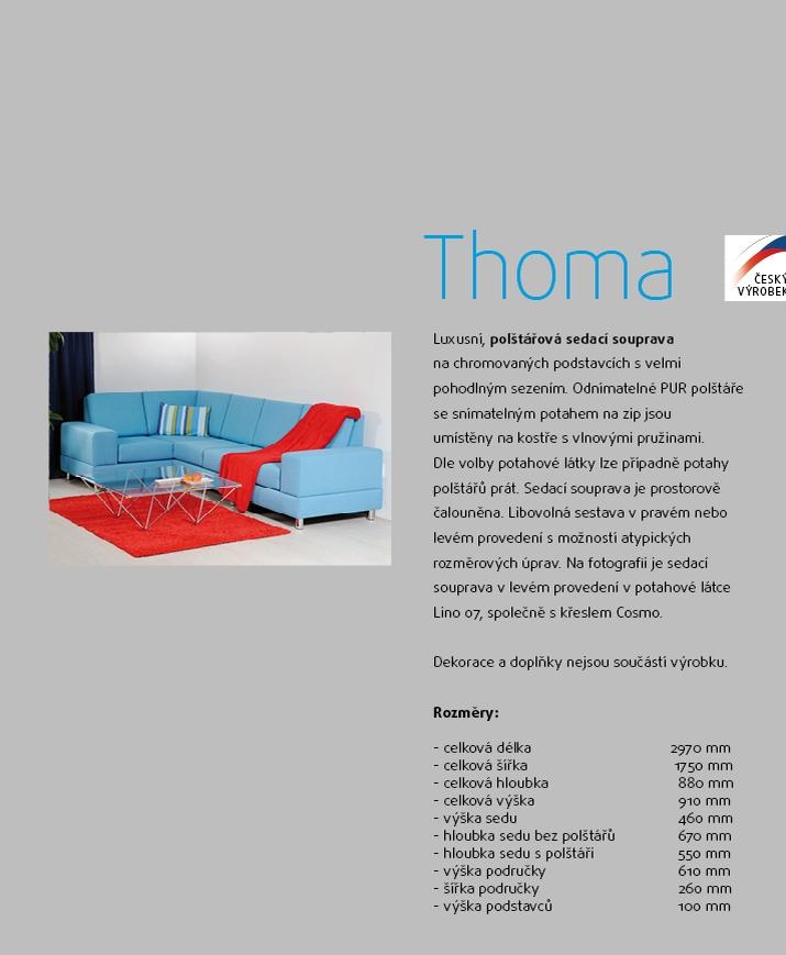 THOMA čalouněná rohová sedací souprava
