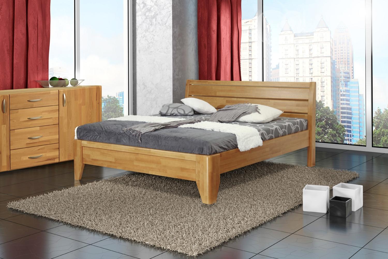 VERONA dřevěná postel z masivního buku dvojlůžko z masivu
